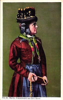 Frau, Wallis, Frauentracht aus Goms, ca. 20er/30er Jahre