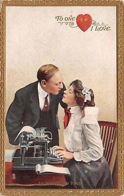 Used, Office Valentine~An Interesting Pause~Typewriter~Boss Secretary~TUCK Ticks Click for sale  Newton