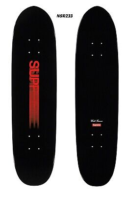 SUPREME MOTION LOGO CRUISER SKATEBOARD BLACK RED 7.75 x 31.25 BRAND NEW