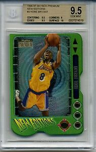 1996 Skybox Premium Kobe Bryant New Editions #3 Rookie Card BGS 9.5 Basketball