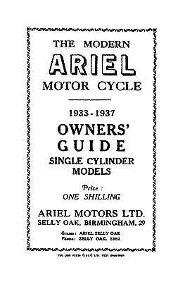 (0107) 1933-1937 Ariel singles models owners guide