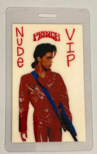 PRINCE 1990 Nude Tour Laminated VIP Pass by Otto