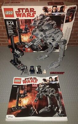 Lego 75201 Star Wars First Order AT-ST Complete Set Manual Minifigures Box