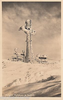Hochgrat AK alt Gipfelkreuz im Rauhreif Alpen Bayern 1607216 online kaufen