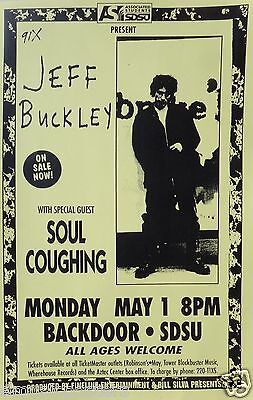 Jeff Buckley   Soul Coughing 1994 San Diego University Concert Tour Poster