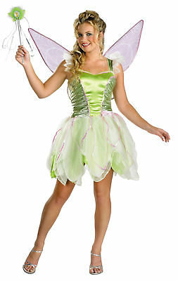 Tinkerbell Luxus Erwachsene Damen Kostüm Fee Peter Pan Disguise 6550 - Halloween Peter Pan Kostüm