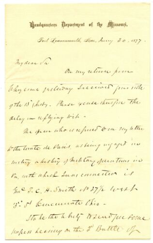 JOHN POPE, Civil War Union General Second Bull Run, Autograph Letter Signed 8328