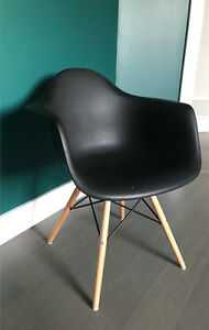 Two black Eiffel chairs