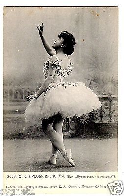 ORIGINAL POSTCARD RUSSIAN BALLET OLGA PREOBRAJENSKA