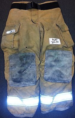 38x30 Pants Firefighter Turnout Bunker Fire Gear W Liner Globe Gxtreme P637