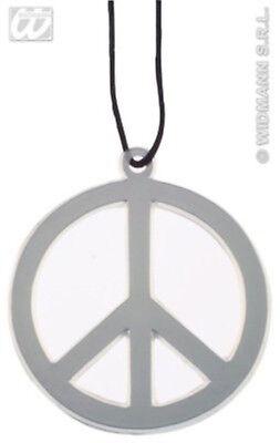 HAAC Halskette Kette mit Peacezeichen Peace Zeichen Anhänger 10 cm Durchmesser