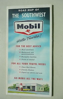 1959 Southwest United States  Mobil  Magnolia Oil Gas Early Interstate Route 66