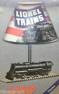 Collectible Lionel Trains Polystone Shade Lamp  2574    New In Box