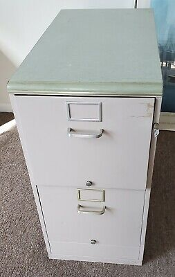 Office File Cabinet Vintage 1940s Heavy Duty 2 Drawer Vertical Pickup Only