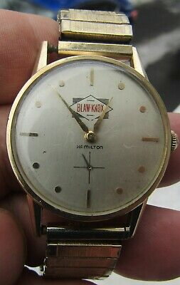 1961 Hamilton for Blaw-Knox Manual Wind Wristwatch 10KGF Cal.770 Running