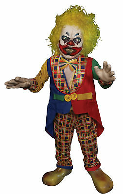 Whacko Clown Lifesize Animated Prop Animatronic Halloween Decoration