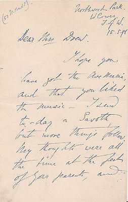 AUTOGRAPH LETTER SIGNED - PIANIST MARIA JANOTHA Court pianist to King of Prussia