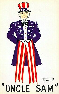 C6655 Uncle Sam - 1954 Chrome Postcard Publisher Curt Teich No. 4C-K1096