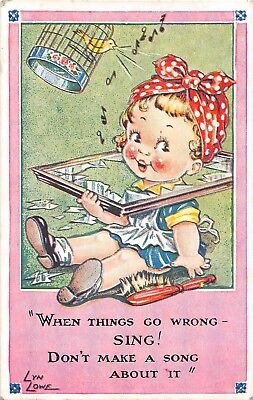POSTCARD  CHILDREN   When  Things  Go  Wrong  SING  !