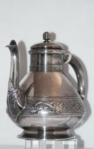 Antique 19th Century Gorham Silver Soldered Coffee Pot