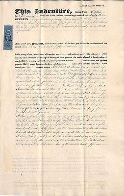 1863 Berks County Pennsylvania Indenture Document   George Fisher  John Ulrich