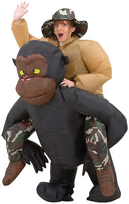 Inflatable Riding Gorilla Adult Costume Illusion Funny Monkey Ape Halloween