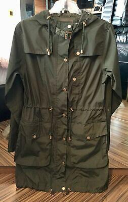 ILSE JACOBSEN HORNBAEK Women's Khaki Green Jacket / Rain Coat UK 10/ 12 (M) 38
