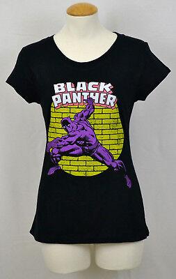 Black Panther T-shirt Women's Marvel Superhero Graphic Tee Fitted Black NWT - Black Women Superheroes