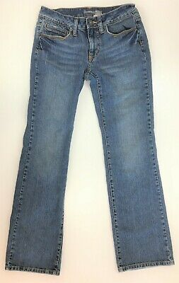 - Apt 9 Low Rise Bootcut Zip Fly Jeans Embellished Back Pockets Size 4