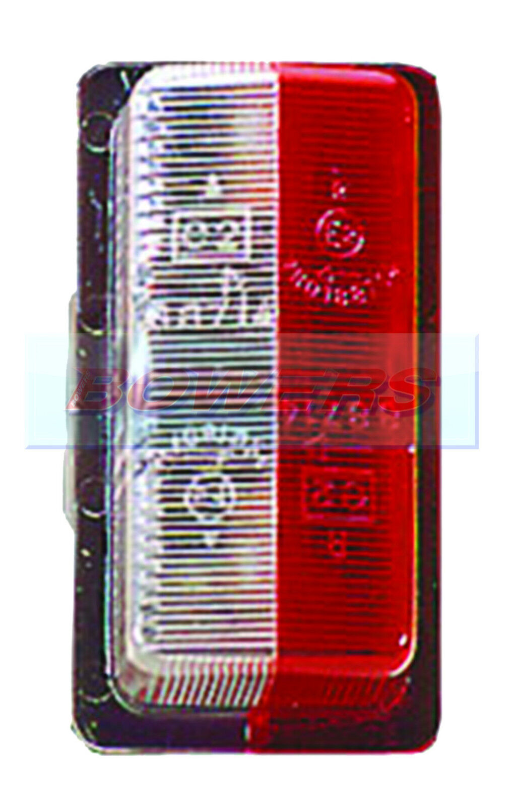 VIGNAL RED WHITE//CLEAR BRIAN JAMES TRAILER SIDE END OUTLINE MARKER LAMP//LIGHT