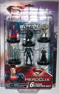 MAN OF STEEL 6 FIGURE STARTER SET DC Heroclix Superman General Zod Faora Jor-El