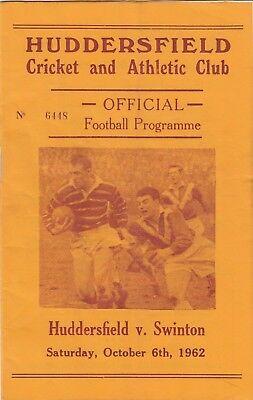 Huddersfield v Swinton 1962/3 (6 Oct)
