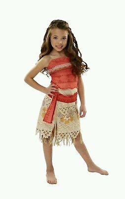 New Disney Moana Girls Adventure Outfit Age: 3+ Size: 4-6x Princess Custom Dress (Custom Disney Outfits)
