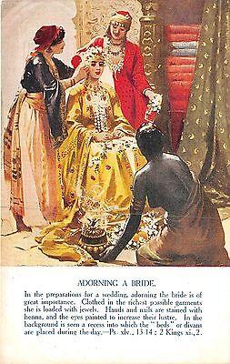 POSTCARD   RELIGION   JEWISH    Adorning  A  Bride