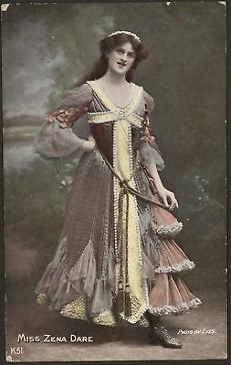 Actress. Miss Zena Dare & Miss Phyllis Dare. c1906 - 2 x  Printed Postcards