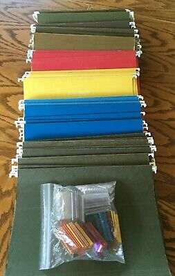 100 Hanging File Folders Letter Size Assorted Colors Oxfordpendaflexunbranded