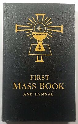 First Mass And Hymnal Book, Vintage Catholic Mass Book with Vinyl Dust Jacket. First Mass Book Vinyl