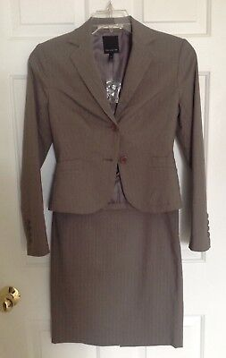 The Limited Suit Separates Jacket Size 2 Skirt Size 4 Taupe Pinstripe covid 19 (Taupe Suit Separates coronavirus)