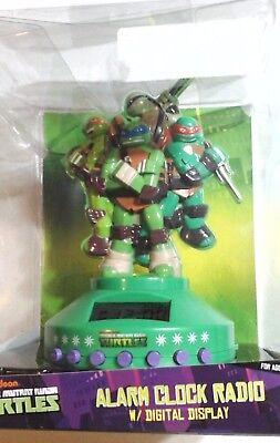 NINJA TURTLES ALARM CLOCK RADIO Teenage Mutant Ninja Turtles Speaker NICKELODEON