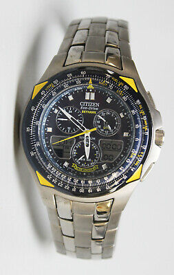 Citizen Eco-Drive SkyHawk Blue Angels Stainless Steel Chronograph Wristwatch