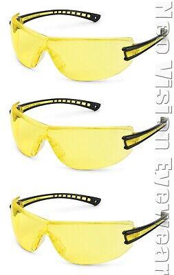 3 Pairpack Gateway Luminary Yellow Night Driving Safety Glasses Sun Z87 Z94.3