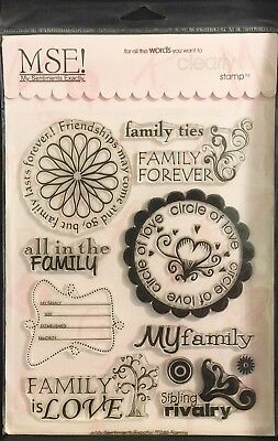 (MSE TT246 Family My Sentiments Exactly Clear Stamps 6