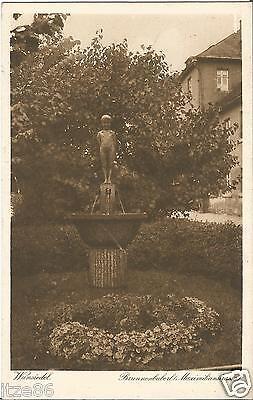 Wunsiedel im Fichtelgebirge, Brunnenbuberl, Maximilianstraße, alte Ak um 1930