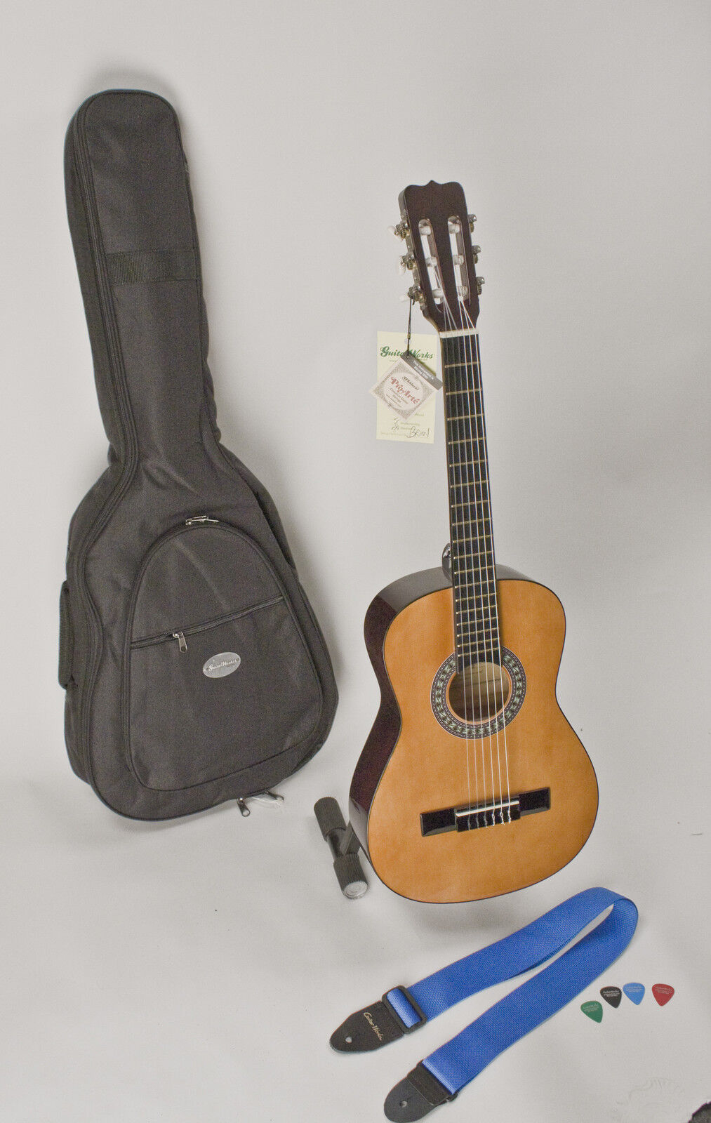 Child's Guitar 1/4 Size 30 Left Handed With Safe & Easy Playing Nylon Strings