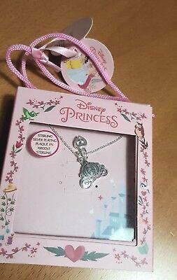 Cinderellas Kutsche - Versilberte Halskette Disney Princess Schmuck