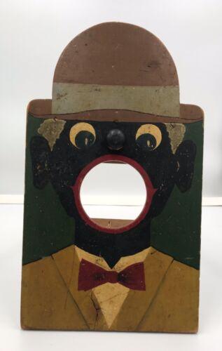 RARE Antique Folk Art Wooden A-Frame Fold Out Carnival Bean Bag Ball Toss Game