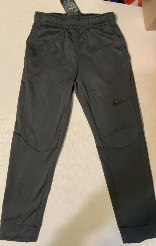 NIKE Dri Fit Therma Fabric Warm Boys Workout Pants Size Large (NWT) gray