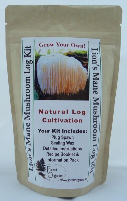 Lions Mane Mushroom Log Growing Log Kit