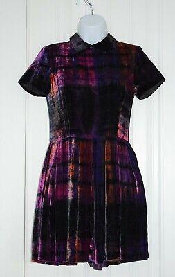 Opening Ceremony Velvet Tie Dye Dress in Purple Women's sz. XS