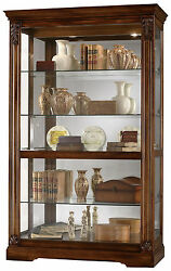 Howard Miller 680-473 (680473) Ramsdell Lighted Curio Cabinet - Tuscany Cherry
